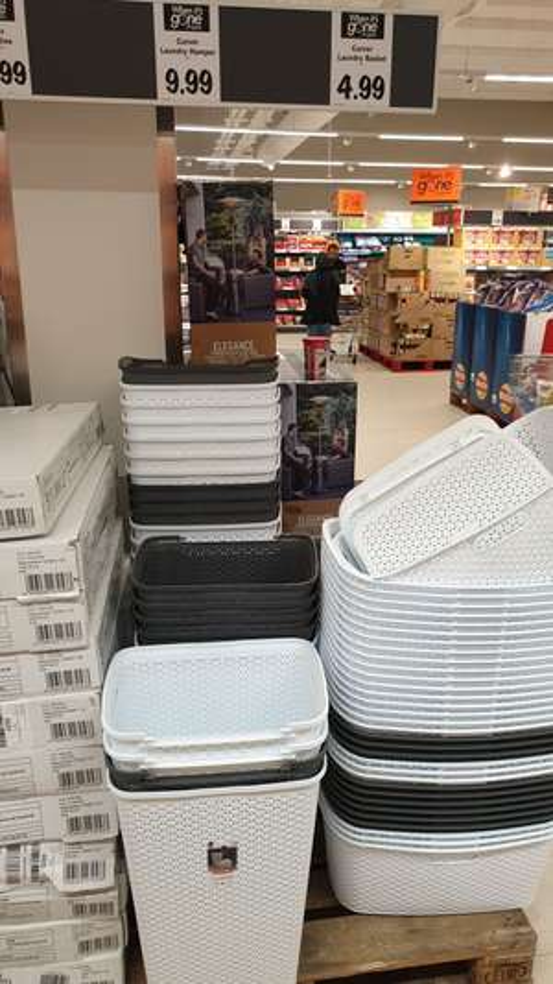 Curver laundry hamper £9.99 / basket £4.99 @ Lidl harrow weald