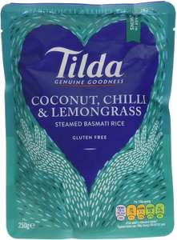 Tilda Steamed Basmati Coconut Chilli and Lemongrass Rice 250 g (Pack of 6) £4.50 @ Amazon (+£4.49 Non-prime)