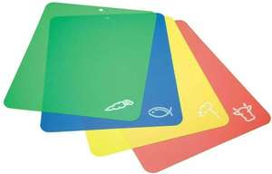 Set of 4 Flexible Chopping Boards Flexible Cutting Sheets Mats Colour Coded - £2.99 delivered @ a2m2tec_0 eBay
