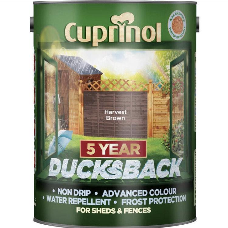 Cuprinol Ducksback 5 litre paint - £7 @ Wilko