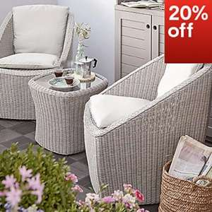 20% off all garden furniture and accessories @ B&Q in store and online