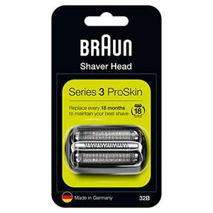 Braun Series 3 32B Electric Shaver Head Replacement Cassette £9.49 S&S / £9.99 Prime / £14.48 Non Prime @ Amazon