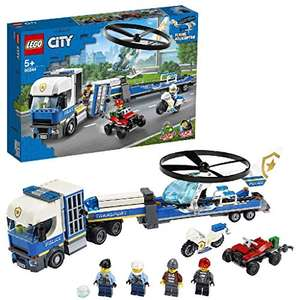 LEGO City Police Helicopter Transport with Quad Bike, Motorbike and Truck with Trailer - £20 @ Amazon