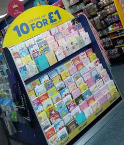10 x Birthday cards for £1 instore @ Card Factory