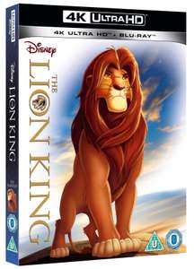 Lion King (4K Ultra HD + Blu-ray) [UHD] £13.50 with new purchase code / £15 @ zoom