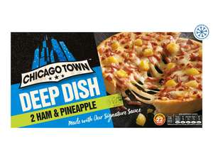 Chicago Town Deep-Dish Pizza x2 (Ham & Pineapple, Chicken Club or Mega Meaty) £0.99 @ Lidl