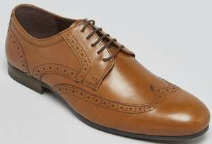 Tan Real Leather Gibson Brogues - £10 + Free Click & Collect @ Matalan