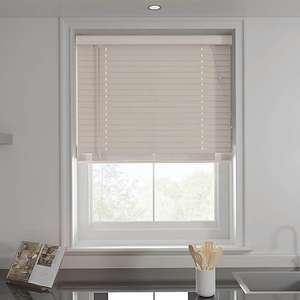 Putty 50mm Slats Venetian Blind Half Price - from £12.50 - Various Sizes - (+£3.95 del) at Dunelm