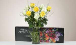 Beautiful bunch of Roses - £7.99 with Free delivery & card @ Arena Flowers