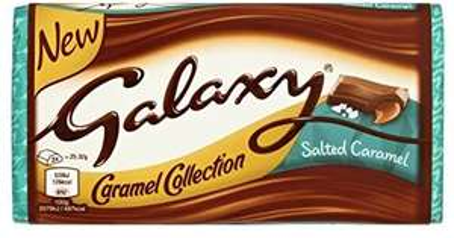 Galaxy Salted Caramel 135g Block - £1 Prime / £5.49 Non-Prime @ Amazon