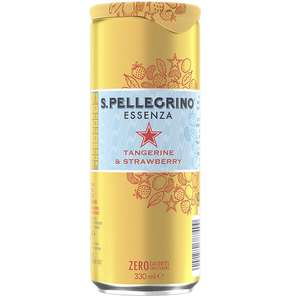 San pellegrino Essenza tangerine and strawberry 330ml can Sparkling Water - 29p also lemon zest ( zero calories) 330ml in Home Bargains