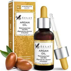 Argan Oil - 100% Pure/Unrefined/Extra-Virgin/Vegan - £4.98 Prime / £9.47 Non Prime Sold by Eclat Beauty and Fulfilled by Amazon