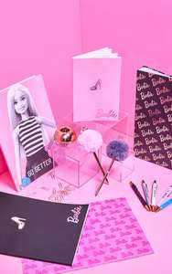 Barbie Stationery - Barbie Ring Binder, A4 Document Wallets 5Pk, A4 Or A5 Notebook, £1 In Store @ OneBelow (Argyle Street, Glasgow)