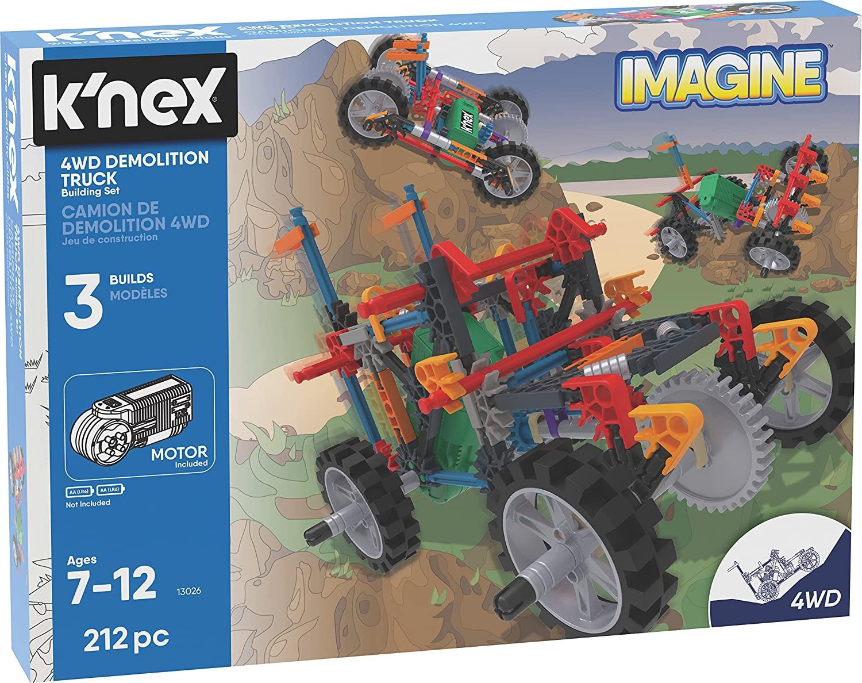 K'NEX Imagine 4WD Demolition Truck Building Set 212 Pieces Ages 7+ Engineering Educational Toy £10 (Prime) / £14.49 (non Prime) at Amazon