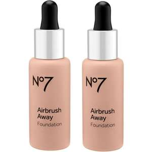 Offer Stack - Get TWO No7 Airbrush Away Foundations 30ml (was £16.50 each) + a Cheek Palette for £9.60 @ Boots (£1.50 C&C / Free on £20)