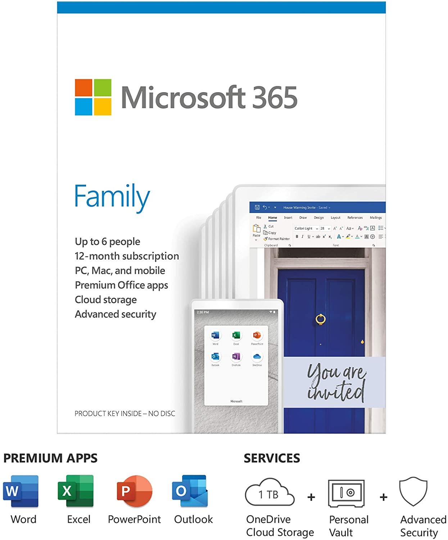 Microsoft Office 365 Family 6 User 1yr - £49.99 download version @ Amazon