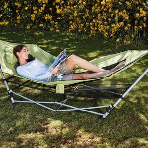 Portable Hammock With Stand + 3 Year Warranty = £39.99 (plus £6.95 postage / instore 23rd July) @ Aldi