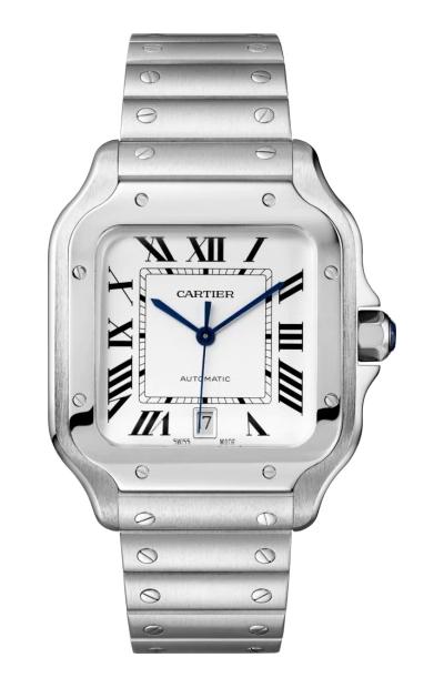 Santos De Cartier Watch 39.8mm with additional leather strap – WSSA0009 £4800 at Heptinstalls
