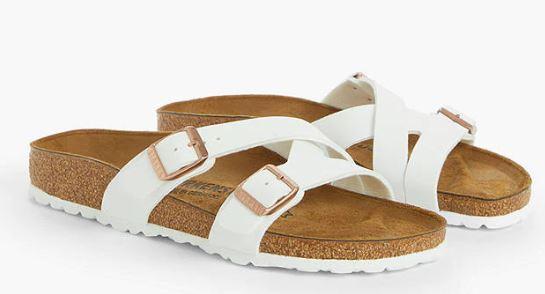 Birkenstock Yao Narrow Fit Balance Double Strap Birko-Flor Nubuck Sandals, White £37.50 at John Lewis & Partners