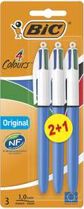 BIC 4 Colours Original Ballpoint Pens Medium Point (1.0 mm) - (Pack of 2+1) £3.24 at Amazon (£3.08 with S&S / + £4.49 NP)