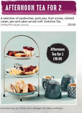 Afternoon tea for 2 £10 Morrisons cafe
