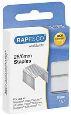 Rapesco Staples - 26/6mm, Box of 2,000 £1.20 @ Amazon (+£4.49 non-prime)