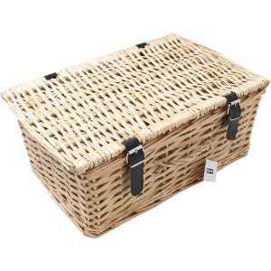 Large Brown Wicker Hamper 42cm x 28cm x 18cm £10 @ Hobbycraft (Free Click and Collect) Also available in Medium (£13) and Small (£8)