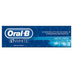 Oral-B 3D White Arctic Fresh Toothpaste £2 at Morrisons