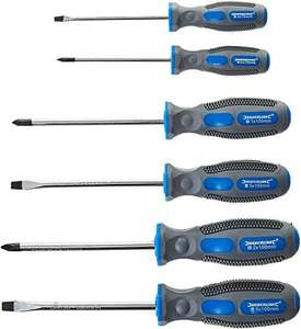 Silverline 546524 General Purpose Soft-Grip Screwdriver Set Slotted & Phillips 6-Pieces-Bicoloured(Blue/Gre) £6.10 Prime / £10.59 Non Prime