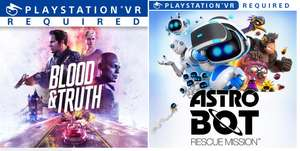 ASTRO BOT Rescue Mission™ // Blood and Truth™ [PS4/PSVR] - £12.94 Each (£11.79 with Shopto Credit ) @ Playstation Store