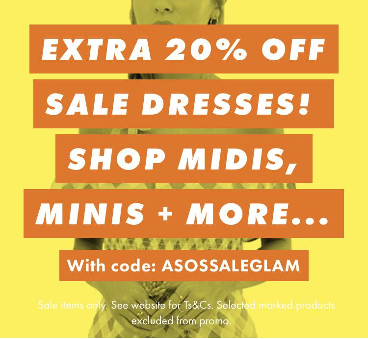 ASOS EXTRA 20% OFF SALE DRESSES! SHOP MIDIS, MINIS + MORE...