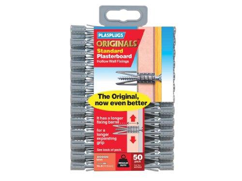 Plasplug Plasterboard Fixings, 50 Value Pack - £1.69 Prime (+£4.49 Non Prime) @ Amazon