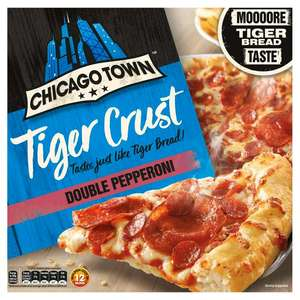 Chicago Town Tiger Crust Double Pepperoni / Cheese Medley / Cheesy Ham & Bacon £1.50 @ Sainsbury's