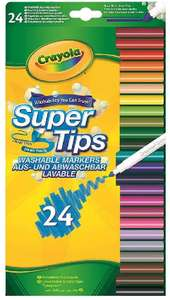 CRAYOLA SuperTips Washable Felt Tip Colouring Pens (Pack of 24) £3.50 at Amazon (+ £4.49 NP)
