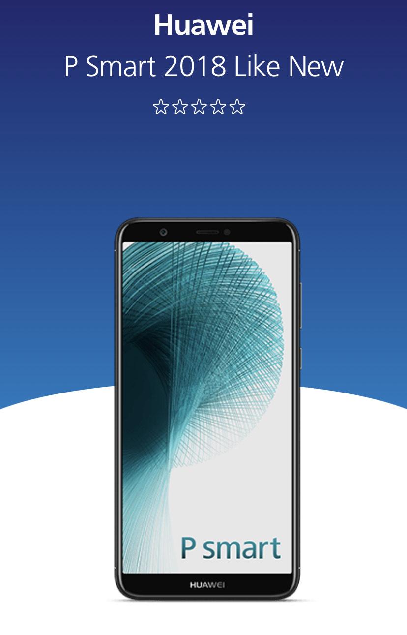 Huawei p smart 2018 like new - £79 @ O2 Shop