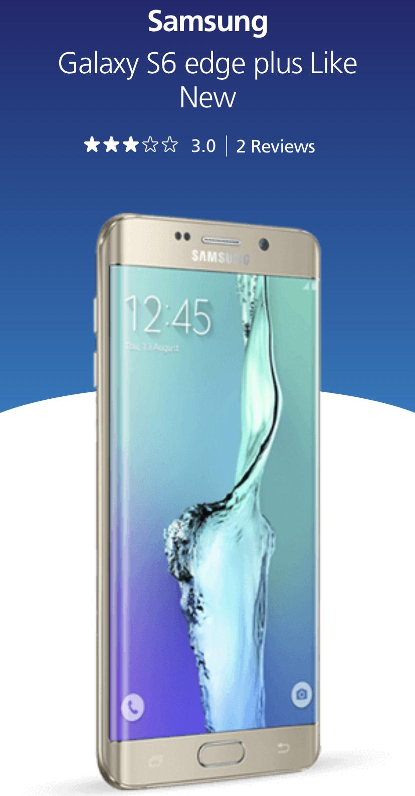 Samsung galaxy s6 edge plus like new - £79 @ O2 Shop