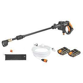 WORX HYDROSHOT CORDLESS PORTABLE PRESSURE WASHER with two batteries @ Screwfix for £99 inc free delivery