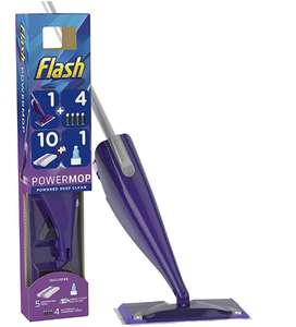 FLASH Powermop Starter Kit All-In-One Dual Spray Mop + 10 Pads £22 @ Amazon