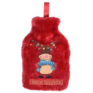 Spirit Of Christmas Novelty Hot Water Bottle & Cover - 50p instore / + £4.99 delivery online @ Sports Direct