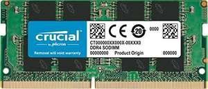 Crucial 16GB (DDR4, 2400 MT/s, SODIMM) Laptop Memory, £56.98 at Amazon