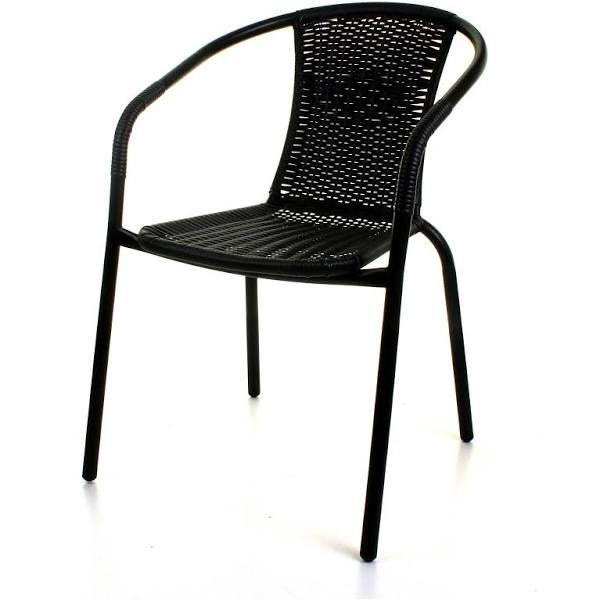 Tesco Black rattan stacking garden chair £15.00 each or 2 for £25 instore