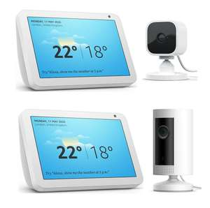 Echo Show 5 (Black/White) & Blink Mini Full HD 1080p WiFi - £59.99 or Echo Show 8 & Ring Indoor Cam FHD - £84.99 delivered @ Currys PC World