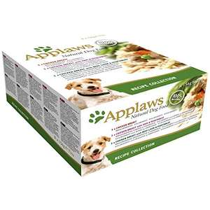 Applaws Natural Dog Food, Multipack, Recipe Selection, In Broth Tin, 156g,Pack of 4X 8 (Total pack of 32) - £12.50 (+ £4.49 NP) @ Amazon