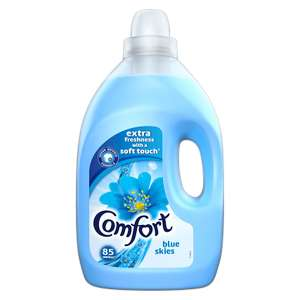 Comfort Fabric Conditioner Blue Skies 3L (85 Washes) - £3 @ ASDA