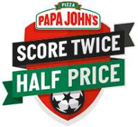 50% off Pizza at Papa Johns TODAY when you spend £15 or more - Register for Football Promo (full details in post + method to use in future)