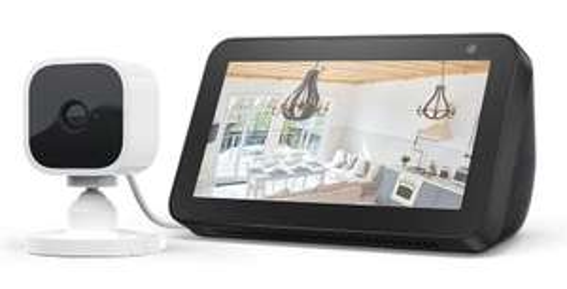 Echo Show 5 Black / White + Blink Mini 1080p Indoor Camera, Works with Alexa - £59.99 @ Amazon