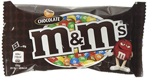 M&M Choco Single Chocolate Bag, 45 g, Pack of 24 - £9.99 (Prime) £14.48 (Non Prime) @ Amazon