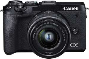 Canon EOS M6 Mark II + EF-M 15-45mm IS STM + EVF-DC2 Digital Mirrorless Camera £869 at Amazon
