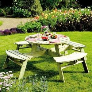Rowlinson wooden pub-style garden picnic table (8 seater) for £202.50 delivered using code @ JTF
