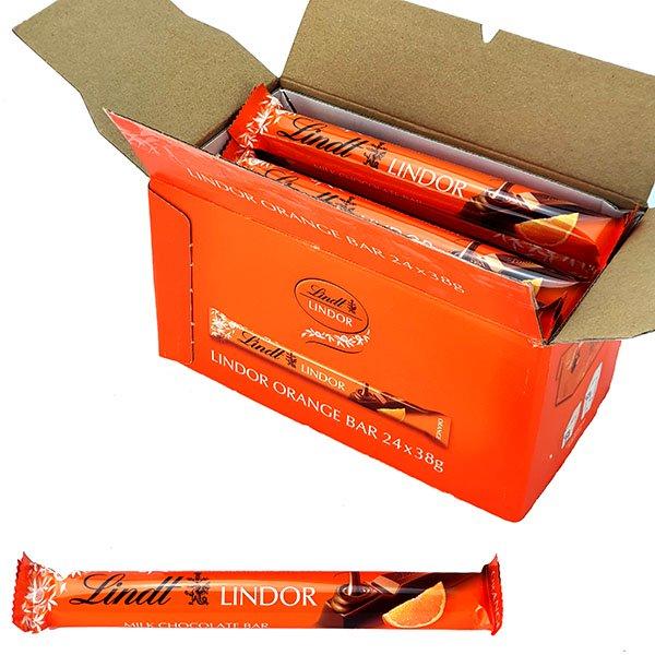 24 x Lindt Lindor 38g Milk Chocolate Orange Bars - £10 delivered @ Yankee Bundles (Best Before 09/2020)